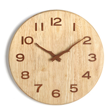 Watch Wall Clock Modern Design Kitchen Vintage Wood Muted Clocks Frame Home Klok Best Selling 2018 Products 56