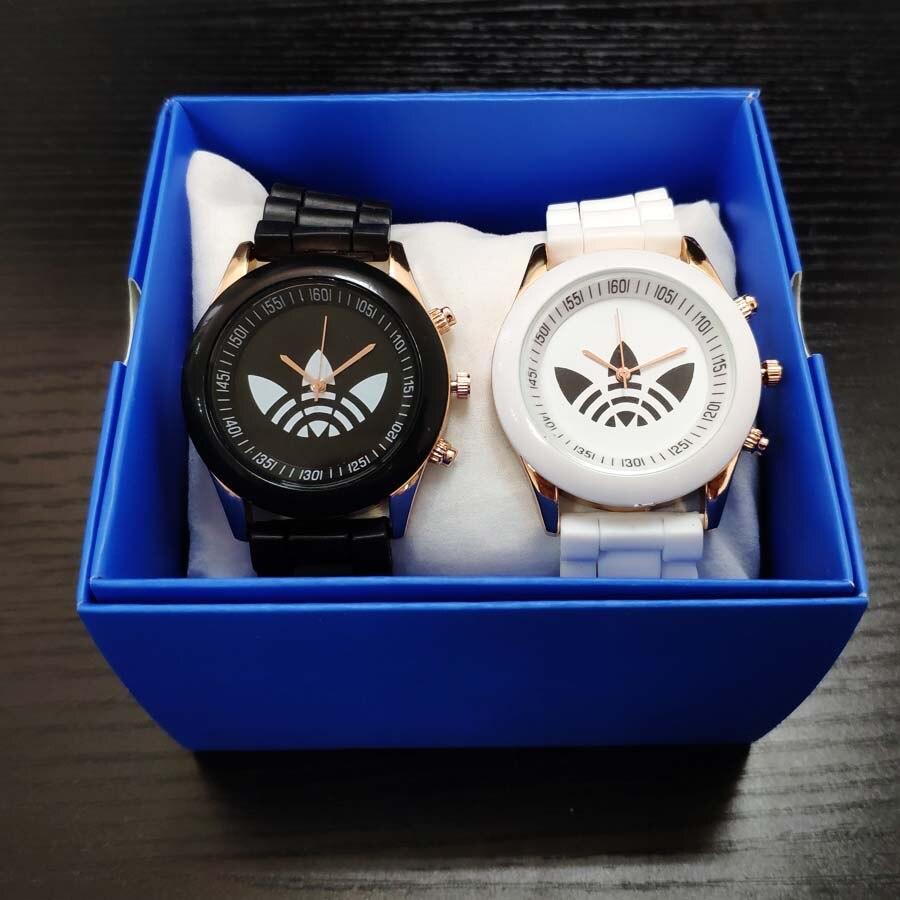 AD Brand Watches Men Women Ladies Quartz Wristwatches Black White Analog Ladies Wrist Watch Watches Women Clock Drop Ship