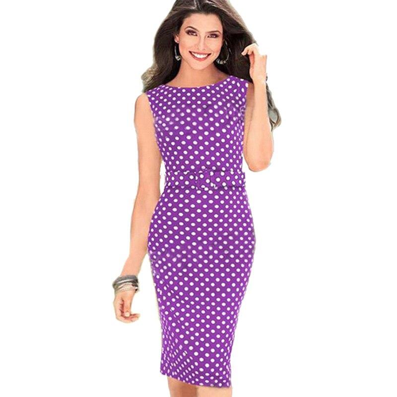 Aamikast Dark Blue Garment Spring New Women Casual Dresses  Sleeveless Elegant Party Evening Polka Dot Size S M L XL polka dot