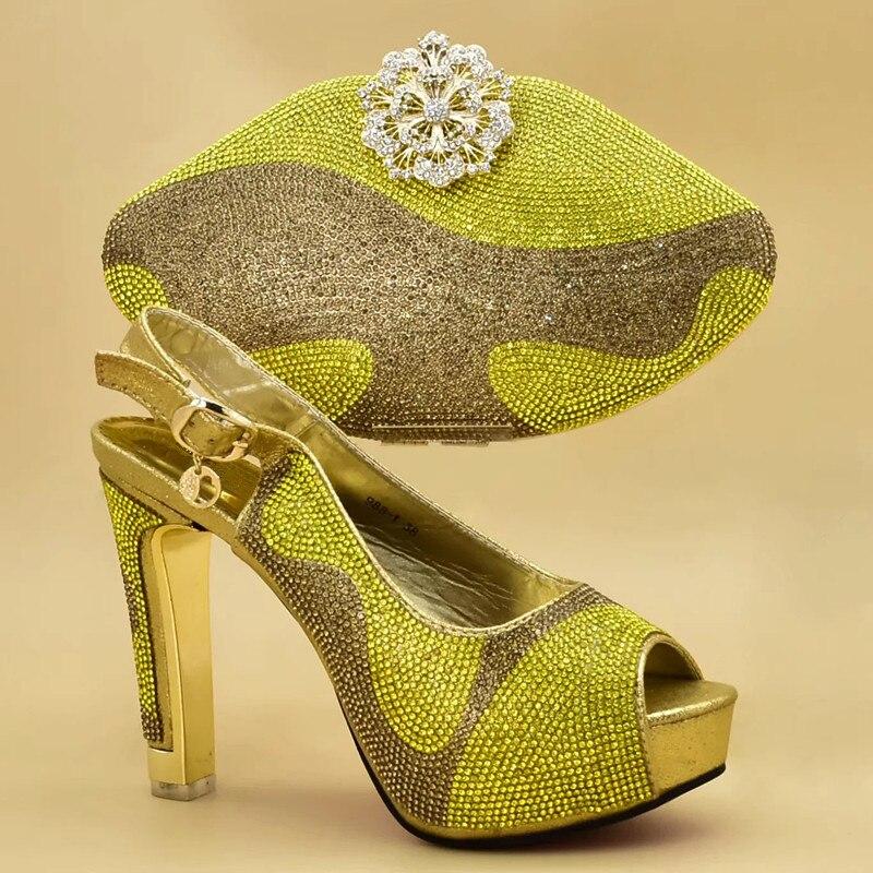 Decorado Diamantes En oro Azul Bolsa Partido Mujer yellow De Moda red Imitación Italiano Zapatos Mujeres Nueva Africano Bolso Y Con Bombas fuchsia Italia RznwFxUq