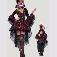 Abbille New Nữ Hoàng Cosplay Halloween Ảo Adult Trang Phục Thiết Womens 'Ma Cà Rồng Vixen Costume Vai Trò Chơi Quần Áo Công Chúa 2017