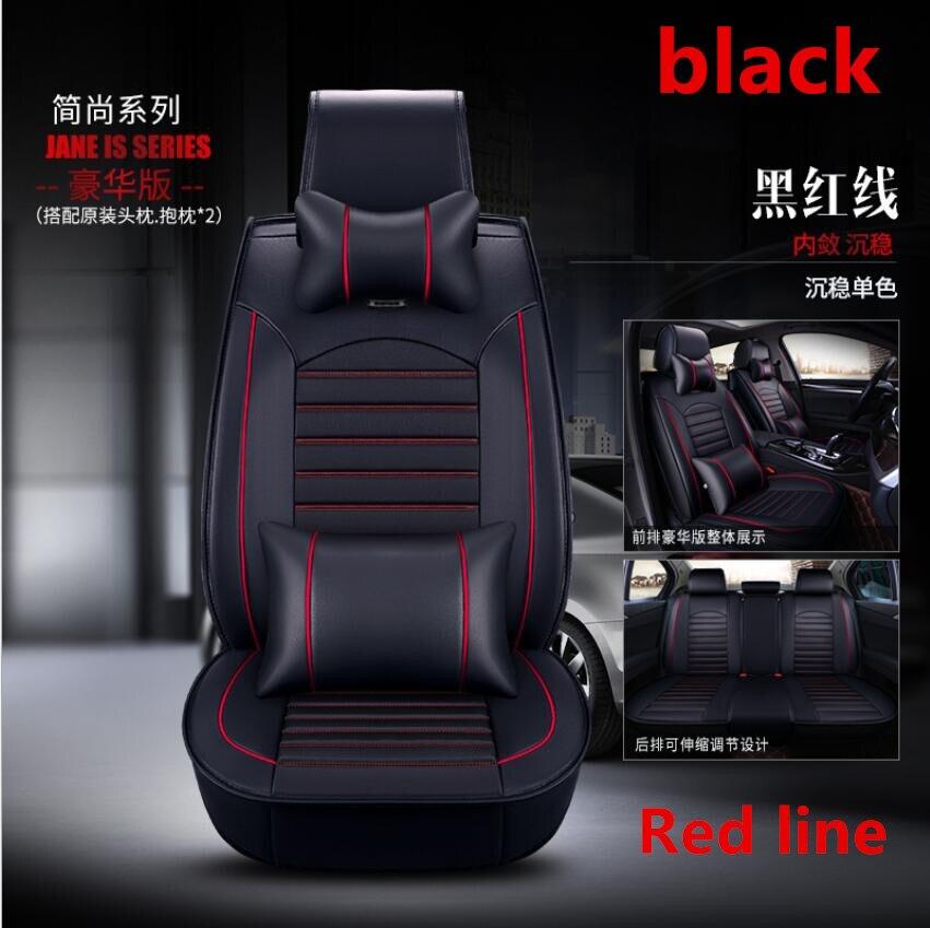 À prova dwaterproof água tampas de assento de carro universal couro do plutônio auto almofada do assento da frente protetor esteira caber a maioria dos acessórios do carro interior - 5