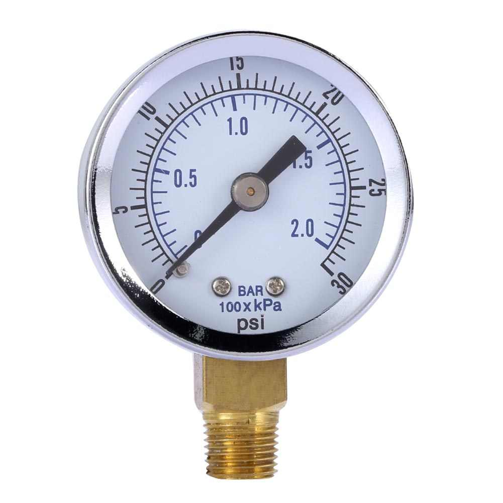 "Low Pressure Gauge for Propane Regulator 0-30 psi 2 inches 1//8/"" NPT Thread"