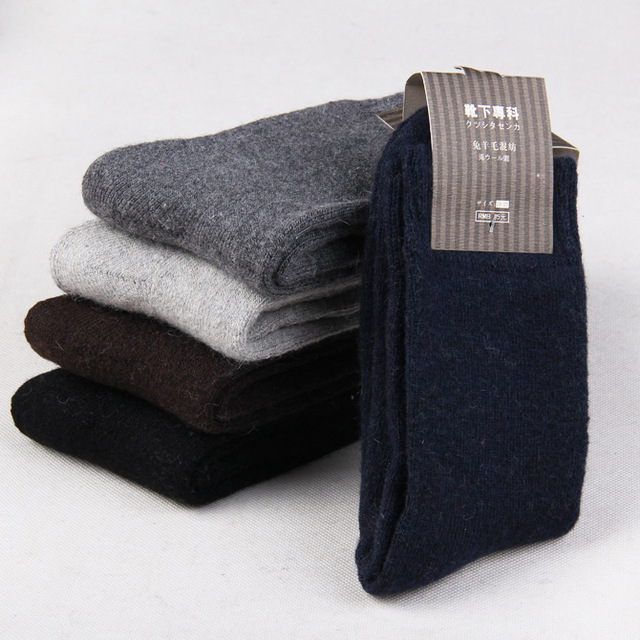 10 piece=5 pairs/lot High Quality Men's Wool Socks Winter Cashmere Socks Winter Thickening Thermal Socks warm solid color Socks