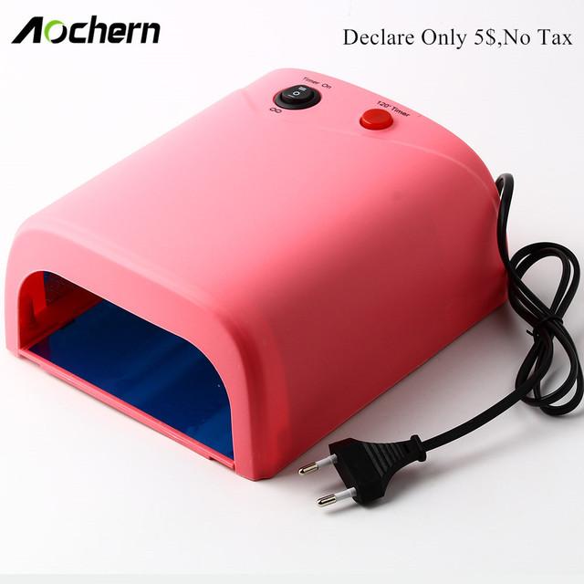 Aochern Profesional 36 W Lámpara 220 V Llevó La Lámpara de Uñas de Curado UV Secador de Uñas de Gel Secador Ligero Del Arte Del Clavo herramientas Con LA UE/EE.UU./REINO UNIDO enchufe #818
