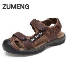Сандалии мужчины zapatos hombre гладиатор сандалии для мужчины открытый летний высокое качество gunuine кожа коровы sandalet мода обувь