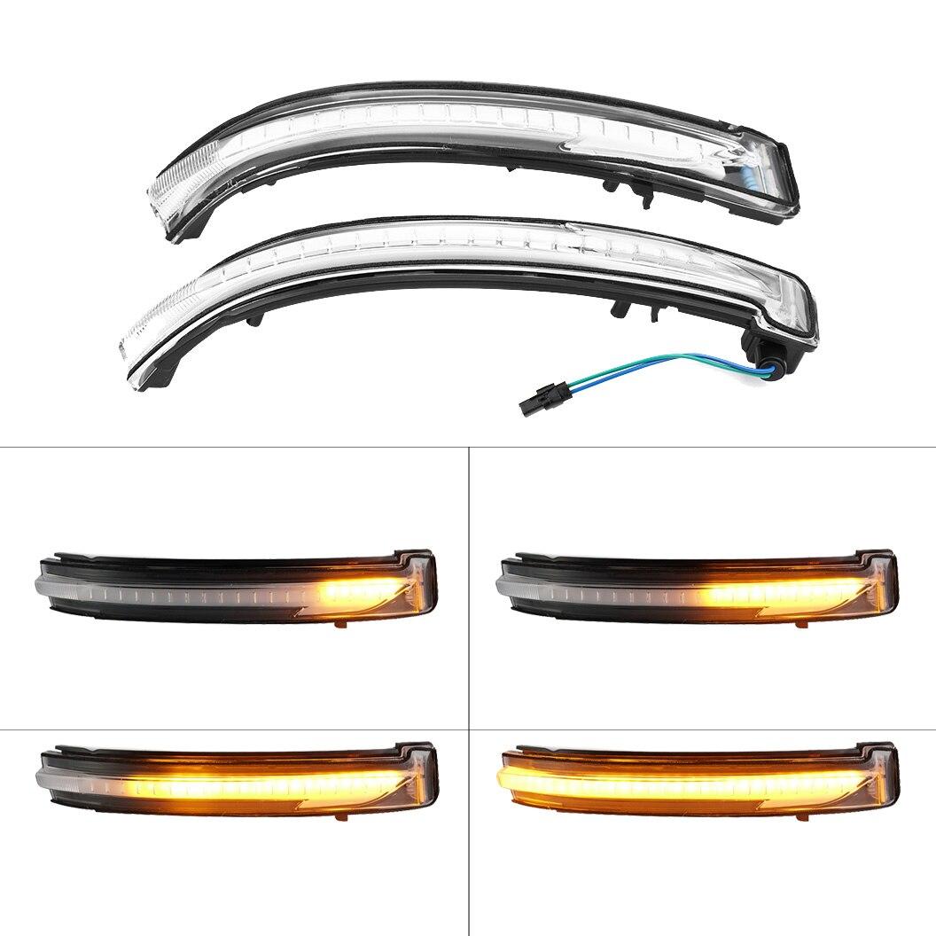 2pcs LED Dynamic Turn Signal Light Rear Mirror Indicator For Nissan X Trail T32 Qashqai J11