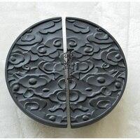 Античный Черный полукруглая стеклянная дверь ручка Китайский бронзовая дверная ручка резьба деревянный корабль ручка