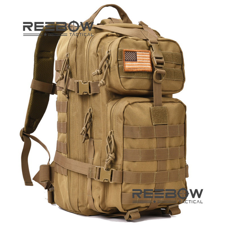 REEBOW TACTICAL Military Tactical Assault Pack Backpack Army Molle Waterproof Camping Bug Out <font><b>Bag</b></font> Rucksack for <font><b>Outdoor</b></font> Hiking