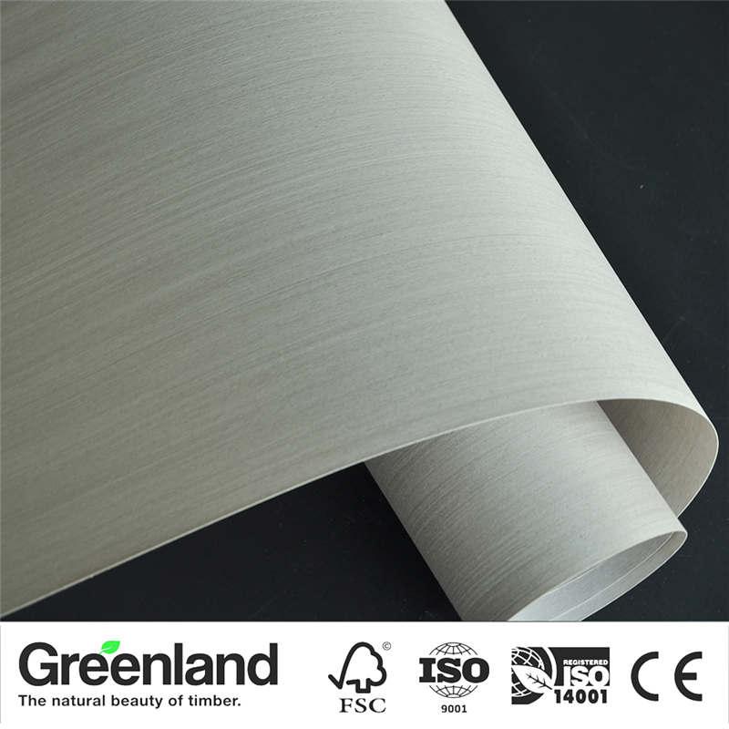 Placage de bois de chêne argenté meubles de bricolage matériau naturel portes peau extérieure taille 250x60 cm placage Vertical bois non fini