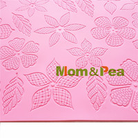 Mom Pea GX185 Free Shipping Flowers Lace Mold Cake Decoration Fondant Cake 3D Mold Food Grade