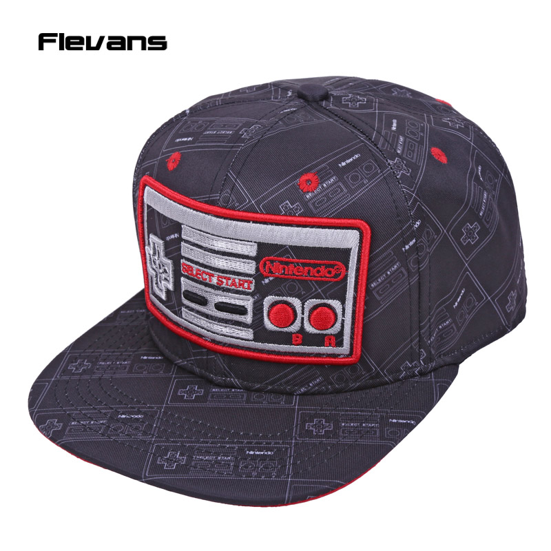 Game Console Creative Design Snapback Caps Cool hat Adult Letter Baseball Cap Bboy Hip-hop Hats For Men Women cntang brand summer lace hat cotton baseball cap for women breathable mesh girls snapback hip hop fashion female caps adjustable