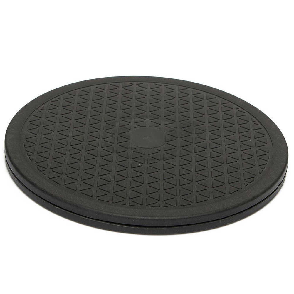 10 Inch Black Rotating Swivel Turntable Plate Lazy Home Kitchen Food Tool