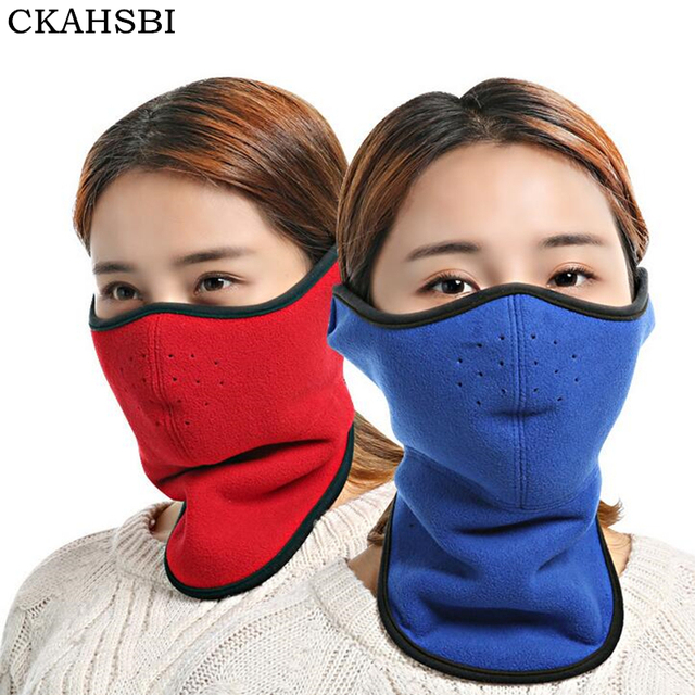 CKAHSBI 2019 Warm Women's Half Face Mask Winter Sport Mask Windproof Bike Bicycle Cycling Mask Ski Snowboard Outdoor Masks Dust