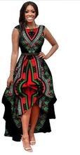 Женское платье без рукавов длинное из полиэстера в африканском
