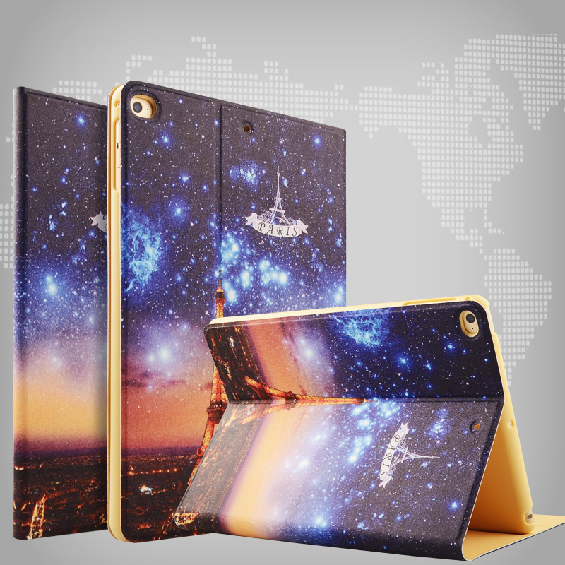 ZOYU Smart Cover For Apple iPad air 2 Cartoon case hot case for eiffel tower ipad air case