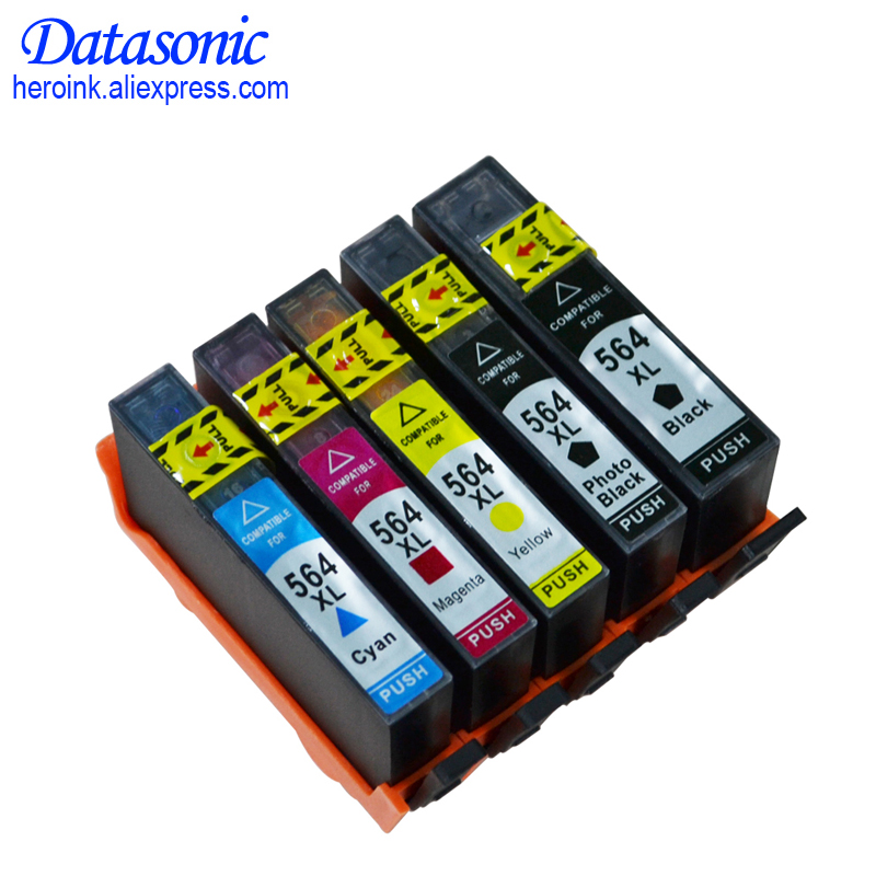 Ink Cartridges for HP 564 XL for Photosmart 5510 5511 5512 5514 5515 5520 5525 6510 6512 7510 7515 B8500 8550 C5380 6375 printer 2pcs for hp 564 564xl black printer ink cartridge for photosmart 7510 b8500 b8550 c5380 c6375 c6380 inkjet printer free shipping