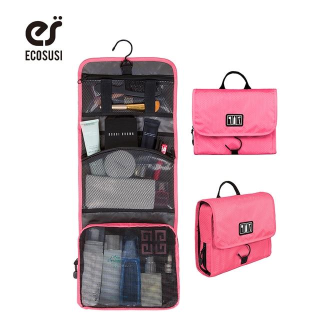 ECOSUSI 2017 New Cosmetic Bags Multifunction Wash Bag Women Makeup Portable Bag Toiletry Storage Waterproof Travel Bags