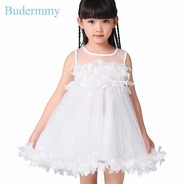 Aliexpress Buy Girls Dress Pink White Formal Dress 2017 New