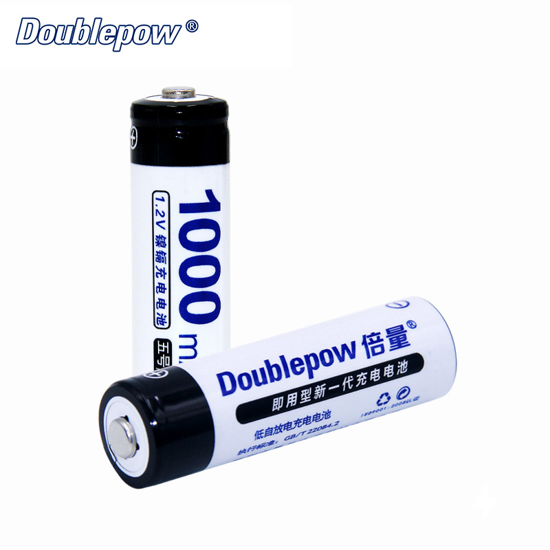 Pre-charged AA Rechargeable Battery Doublepow 1000mAh Ni-CD 1.2V Bateria Toys Battery for Cameras VS Li-ion AA Battery D005