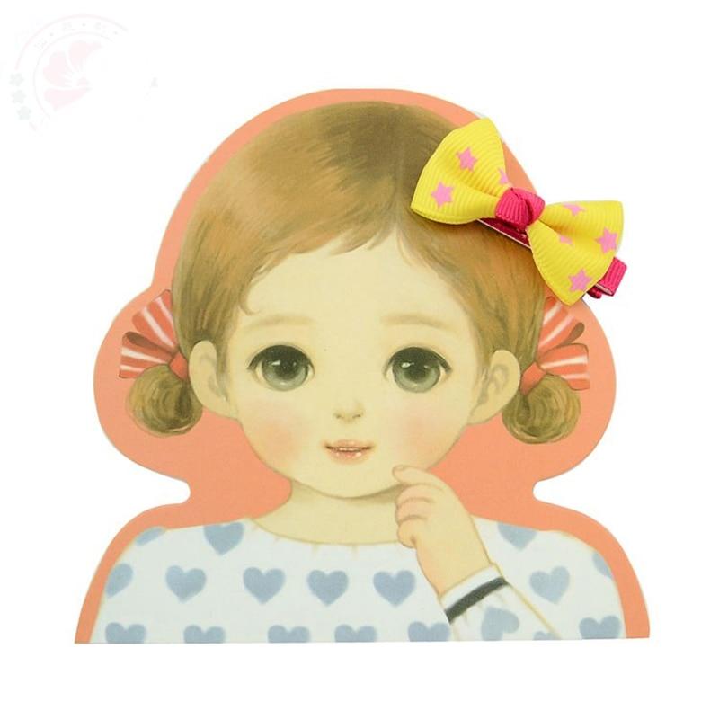 HTB1zGQSPVXXXXbdXVXXq6xXFXXXr Trendy Girls Candy Color Dot Flower Print Ribbon Bow Hair Clips - 7 Styles