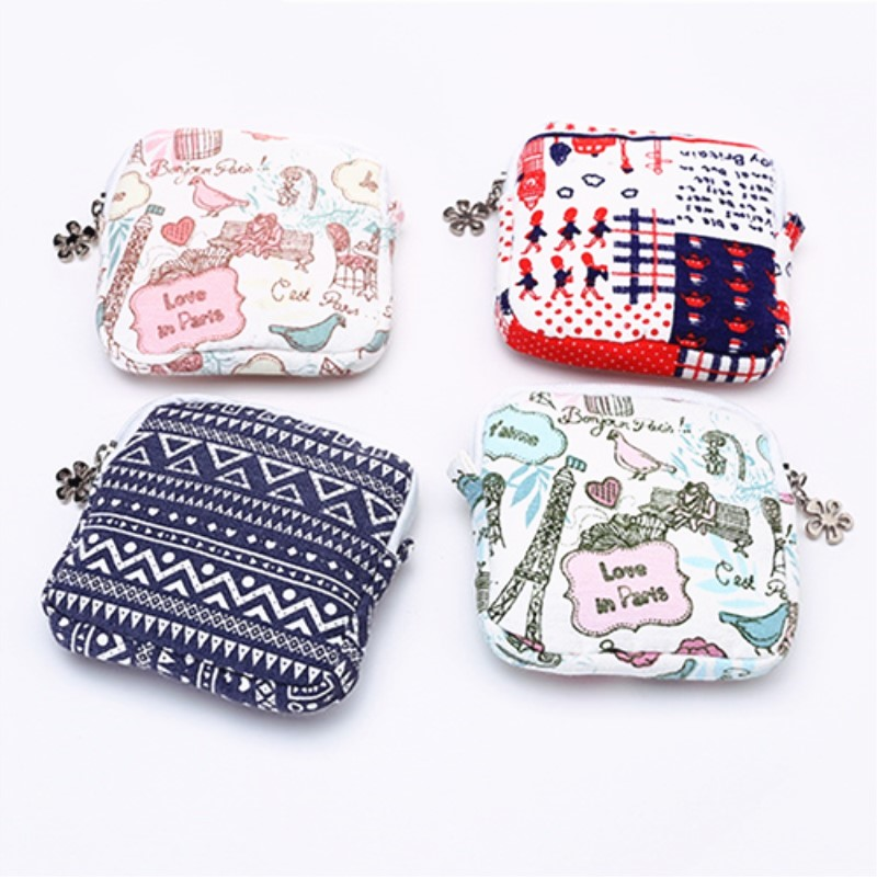 Us 0 85 30 Off Card Holder Small Wallet Cute Sanitary Pad Organizer Napkin Towel Convenience Bags S Purses Portemonnee Coin Purse In