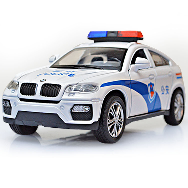 China Police: 1:32 Chinese Police 5 Diecast Alloy Metal Luxury Racing