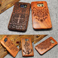 Real Rosewood Carving Case Multi-Pattern Hard Protector Cover For Samsung Galaxy S7 Edge S5 Neo S6 Edge Plus NOTE 5/4/S4 MINI