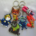 Zootopia Keychains Cartoon Keychain PVC Action Figure Pendant Keychain Key Ring Keyrings Toy
