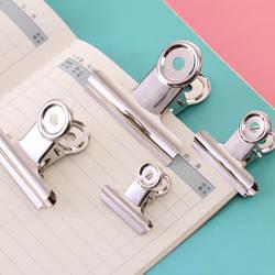 Зажим для бумаг, нержавеющая сталь, мм белый металл, Размеры 29 мм, 36 мм, 50 мм, 61 мм, канцелярские принадлежности