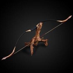 Profesional 30-50lbs tiro con arco hecho a mano puro arco recurvo tiro al aire libre accesorios de arco de caza deportes ciego y árbol