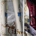 Princess sweet lolita pantyhose Japanese Original Alice dinner bowknot tableware printed velvet pantyhose LKW53