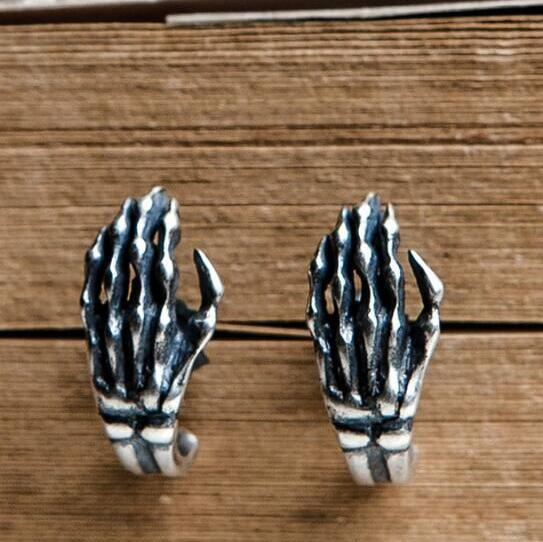 ORIGINAL 925 STERLING SILVER GHOST CLAW EARRINGS