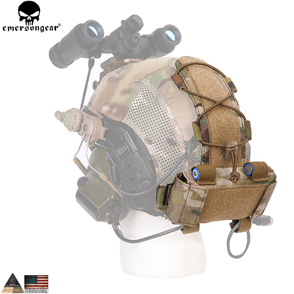 EMERSONGEAR MK1 Battery Case for EMERSON Helmet Tactical Helmet Pouch Hunting Accessories Night Pouch Helmet Bag Multicam EM9398