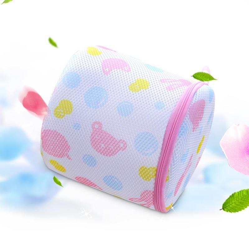 Zipper Underwear Wash Bag Cylinder Mesh Net Lingerie Saver Bra Storage Bag Accessories Laundry Wash Care Set