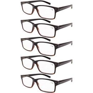 Image 4 - R032 окуляр 5 pack пружинные петли винтажные очки для чтения мужские включает в себя солнечные считыватели + 0,00     + 4,00
