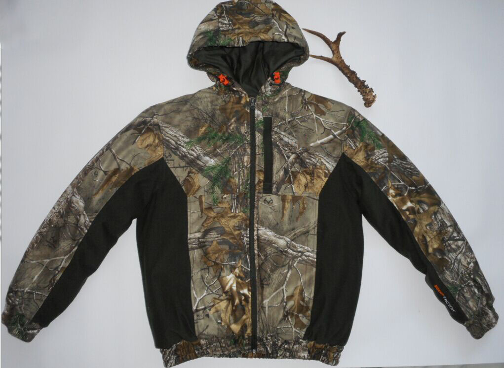 ФОТО BD21 Biomimicry Camouflage male winter cotton-padded jacket windproof waterproof thermal bird massifs wadded jacket