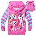 3 - 10 anos de idade congelados meninas outono inverno casacos crianças My little Pony casacos Hoodies brasão Roupas Roupas Infantil