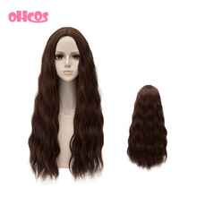 OHCOS Retail Film Avengers: Age of Ultron Scarlet Witch 65cm Brown Long Curly Hair Cosplay Wigs