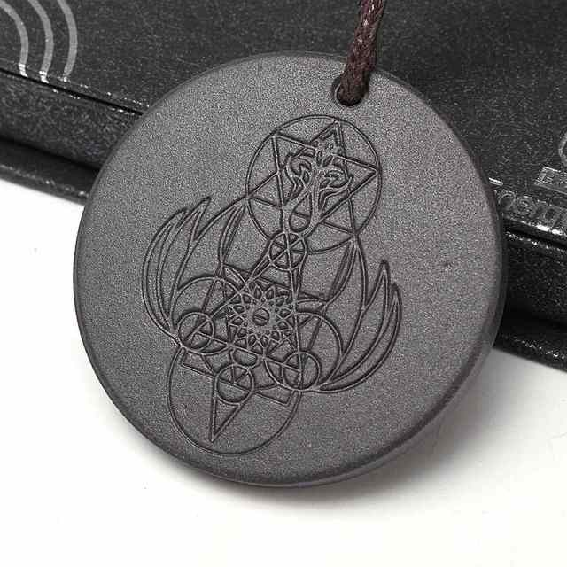 1pcs Angel Spiritual Design Quantum Science Scalar Energy Pendants Necklace With Leather Rope Chain Health Care Charms Jewelry