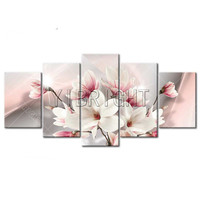 5d Diy Diamond Painting 5 Pcs Set Multi Picture Orchids Flower Diamond Embroidery Full Round Of