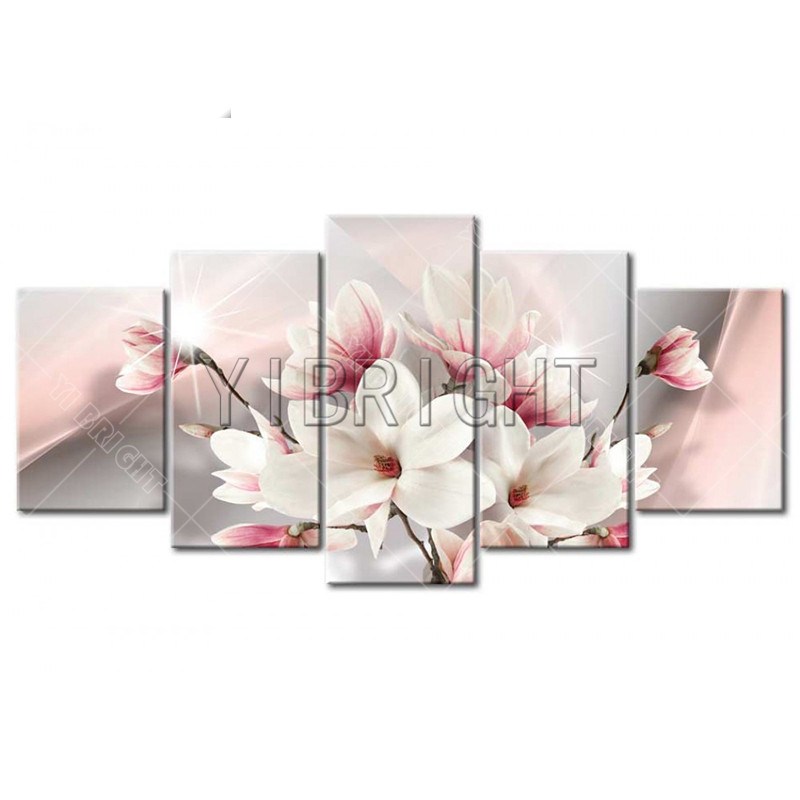 5d diy diamond painting 5 pcs/set multi-picture orchids flower diamond embroidery full round of rhinestones decor mosaic YN