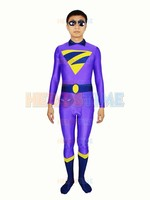 Hot Sale The Wonder Twins Zan Costume Spandex Adult Halloween Cosplay Superhero Costumes For Men The Most Popular Zentai Suit