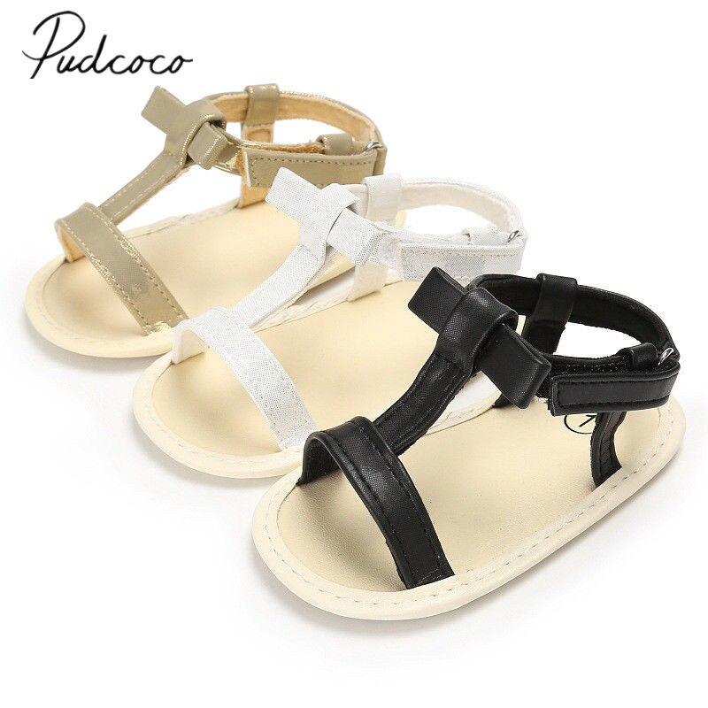 7425c9b7e2daf 2018 Brand New Infant Toddler Kid Baby Girl Soft Sole Crib Shoes Sandals  Prewalker Brief Style Toddler Sandals 0-18M
