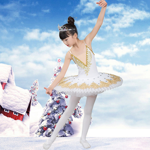 Image 3 - 2020 new Professional Ballet Tutu Child Swan Lake Costume White Red Blue Ballet Dress for Children Pancake Tutu Girls Dancewear