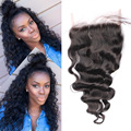 5X5 Lace Closure With Baby Hair Bleached Knots 8A Malaysian Virgin Hair Loose Wave Free Middle Three Part Lace Closure