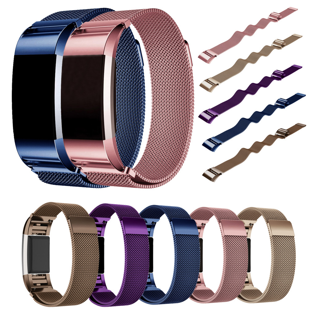 Replacement Strap Milanese Stainless Steel Watch Band Bracelet Strap For Fitbit Charge 2 Dignity Correa Venda Dropship J28 december 08 stainless steel bracelet smart watch band strap for fitbit charge 2 supper deal