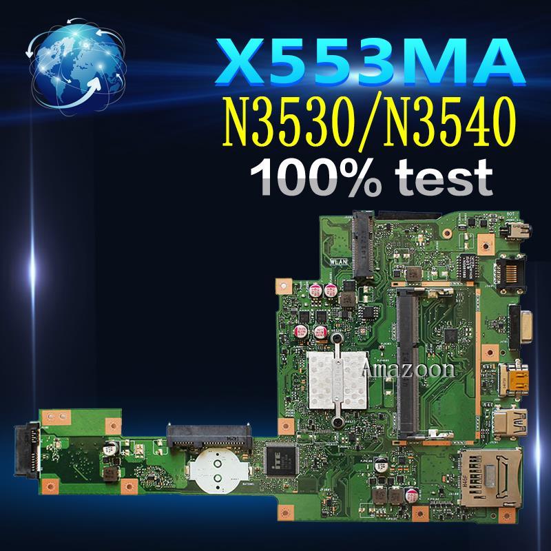 Carte mère d'ordinateur portable Amazoon X553MA pour ASUS X553MA X553M A553MA D553M F553MA K553M Test carte mère d'origine N3530/N3540 4-Core CPU