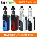 New Wismec RX200S Vape Kit 200W with Geekvape Griffin 25 Plus RTA Atomizer Vs Only rx200s Box Mod Electronic Cigarette Original