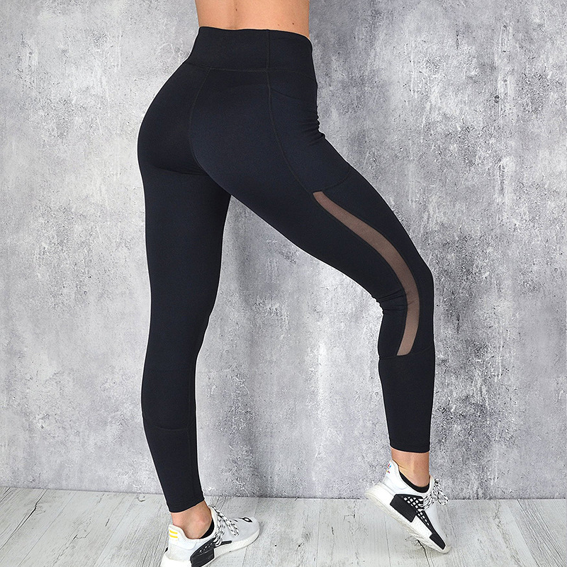 Women Mesh Pocket Fitness Leggings High Waist Legging Femme Mesh Patchwork Workout Leggings Feminina Jeggings 31